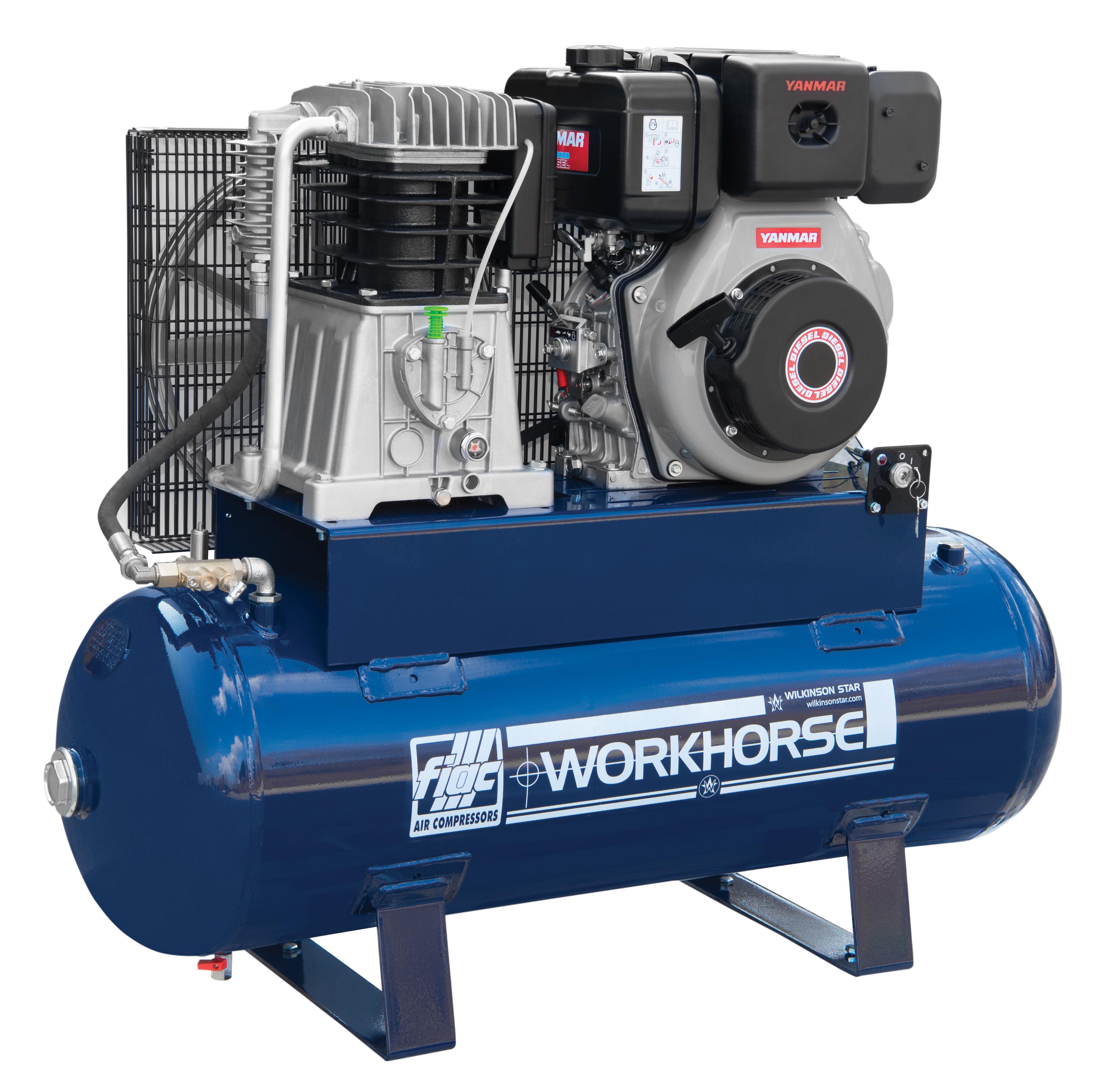 Workhorse Fiac Wrdi 10hp 150 Litre Diesel Air Compressor
