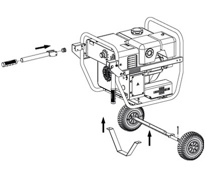 Mosa MagicWeld 200 Wheels and Handles Kit CTM MW200