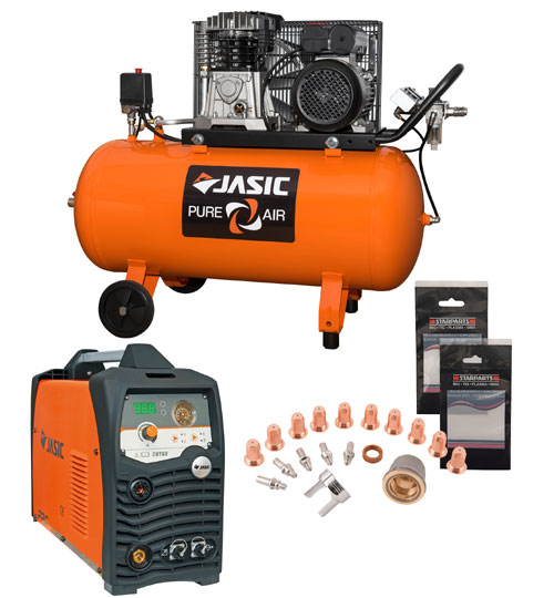 Jasic Cut 60 Plasma and Compressor Package