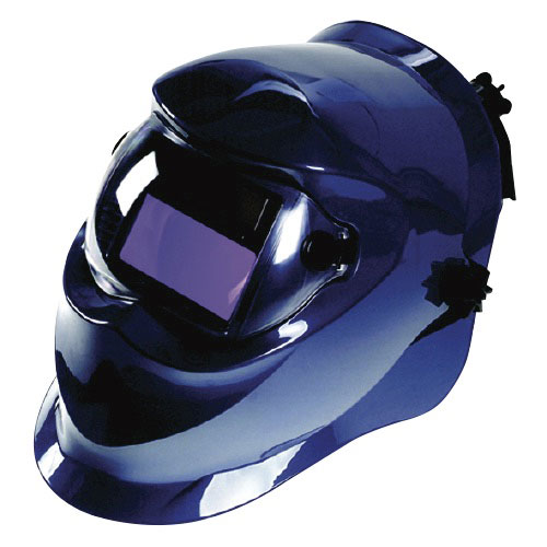 Beta blue welding helmet