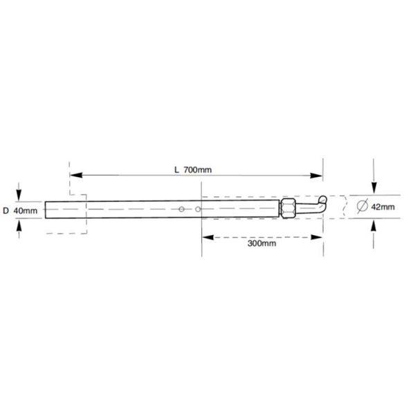 Tecna 40mm reduced size arm